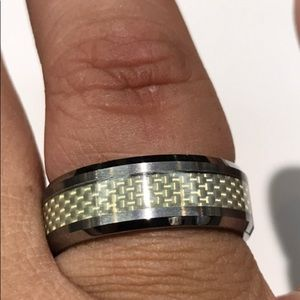 Other - Genuine Tungsten carbide men's band ring sz 10